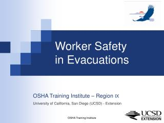 Worker Safety  in Evacuations