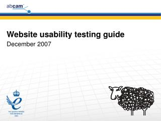 Website usability testing guide