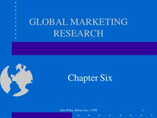 GLOBAL MARKETING RESEARCH