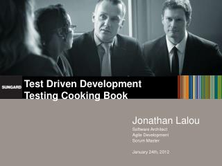 Test Driven Development Testing Cooking Book