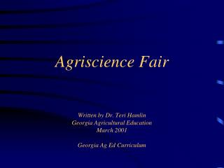 What is the Agriscience Fair?