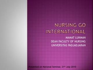 NURSING GO INTERNATIONAL