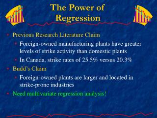 The Power of Regression