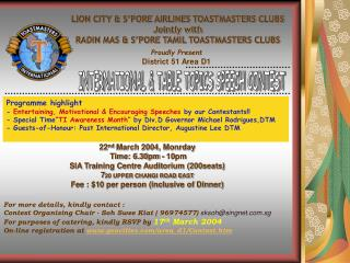 LION CITY & S'PORE AIRLINES TOASTMASTERS CLUBS