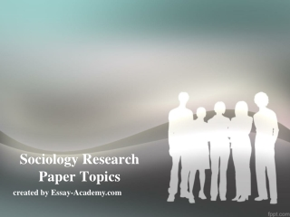 Literature Search : Sociology