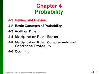 Chapter 4 Probability