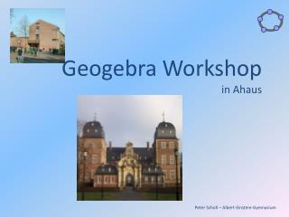 Geogebra  Workshop  in Ahaus