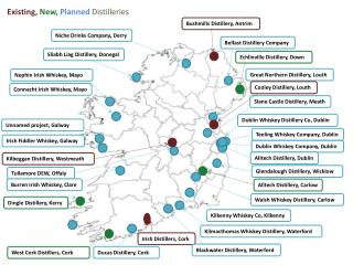 Existing, New,  Planned  Distilleries