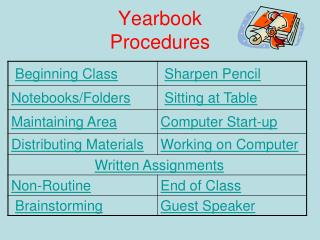 Yearbook  Procedures