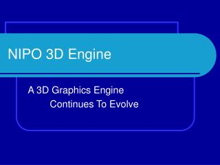 NIPO 3D Engine