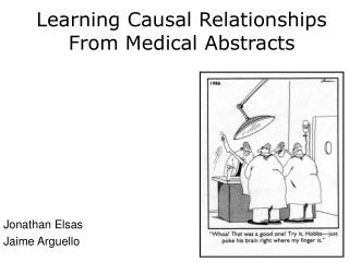 Learning Causal Relationships From Medical Abstracts