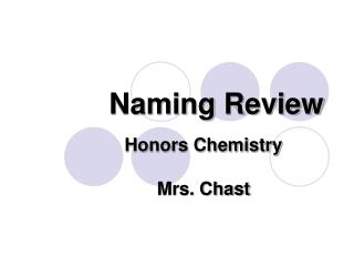 Naming Review