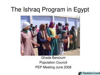 The Ishraq Program in Egypt