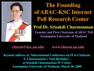 The Founding  of ABAC-KSC Internet Poll Research Center