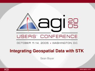 Integrating Geospatial Data with STK