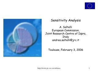 Sensitivity Analysis A. Saltelli