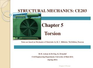 STRUCTURAL MECHANICS: CE203