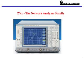 ZVx - The Network Analyzer Family