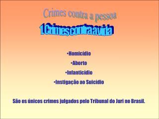 Crimes contra a pessoa