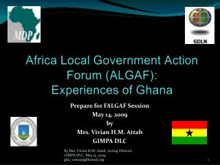 Africa Local Government Action Forum (ALGAF): Experiences of Ghana