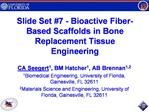 Slide Set 7 - Bioactive Fiber-Based Scaffolds in Bone  Replacement Tissue Engineering