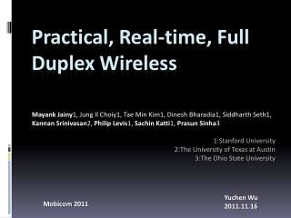 Practical, Real-time, Full Duplex Wireless