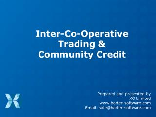 Inter-Co-Operative Trading & Community Credit