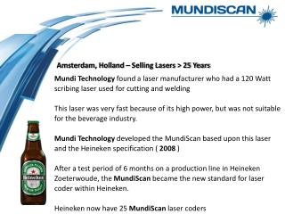 Amsterdam, Holland – Selling Lasers > 25 Years