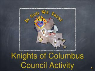 Knights of Columbus Council Activity
