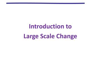 Introduction to  Large Scale Change
