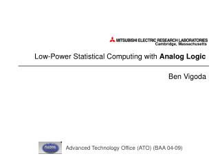 Low-Power Statistical Computing with Analog Logic