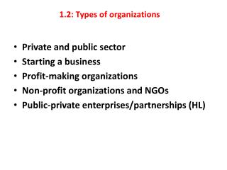 1.2: Types of organizations