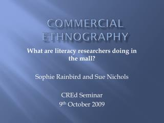 Commercial ethnography