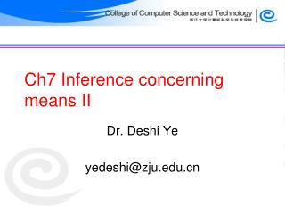 Ch7 Inference concerning means II