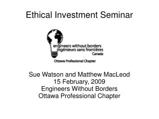 Ethical Investment Seminar