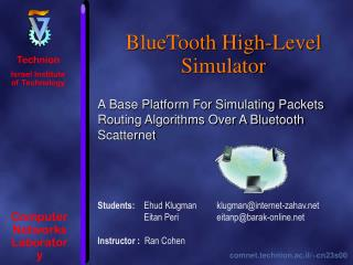 BlueTooth High-Level Simulator