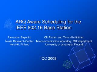 ARQ Aware Scheduling for the IEEE 802.16 Base Station