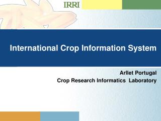 International Crop Information System