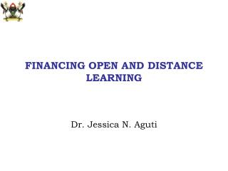 FINANCING OPEN AND DISTANCE LEARNING