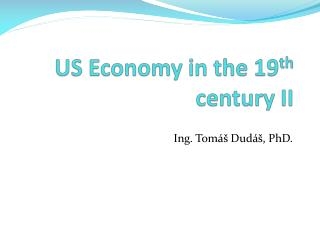 US Economy in the 19 th  century II