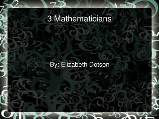 3 Mathematicians