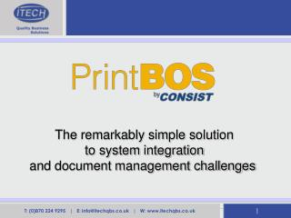 The remarkably simple solution to system integration and document management challenges