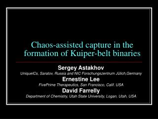 Chaos-assisted capture in the formation of Kuiper-belt binaries