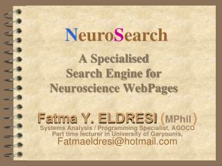 A Specialised  Search Engine for Neuroscience WebPages