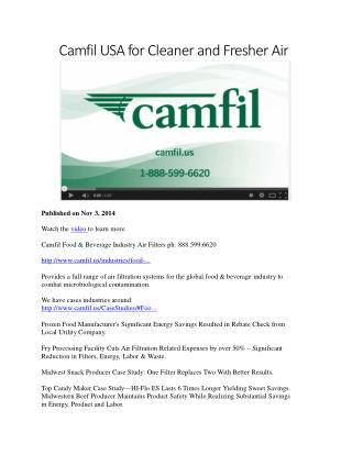 Camfil Food & Beverage Industry Air Filters