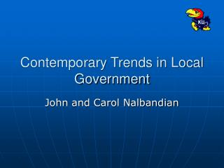 Contemporary Trends in Local Government