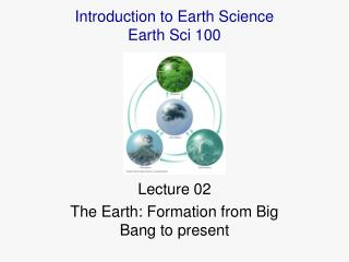 Lecture 02 The Earth: Formation from Big Bang to present