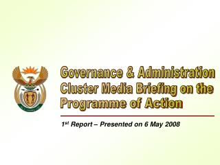 1 st  Report – Presented on 6 May 2008