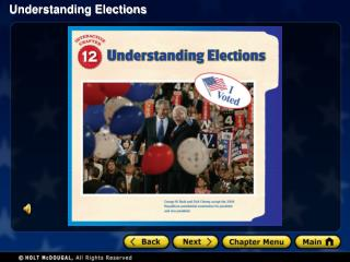 Section 1: Election Campaigns Section 2: Campaign Funding and Political Action Committees