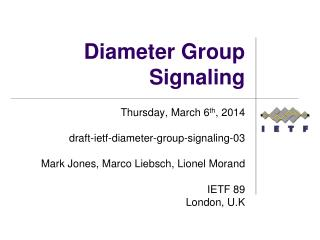 Diameter Group Signaling